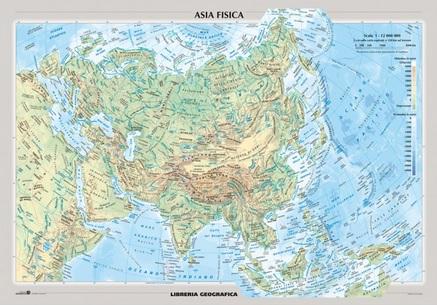 Cartina Asia Fisica.Asia Fisica E Politica Carelli Store