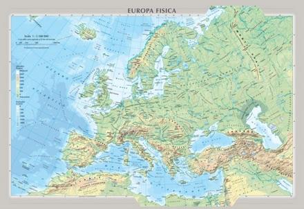 Cartina Fisica E Politica.Europa Fisica E Politica Carelli Store