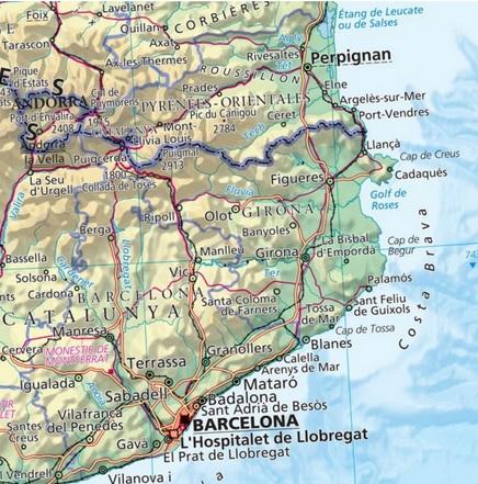 Cartina Spagna Politica E Fisica.Spagna Fisico Politica Espana Carelli Store